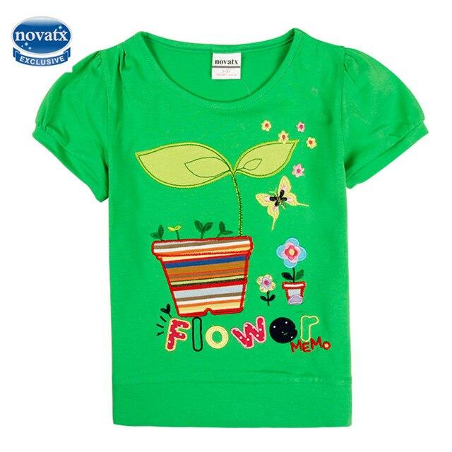 Summer cotton kids t shirt nova baby clothes embroidery girls tops ...