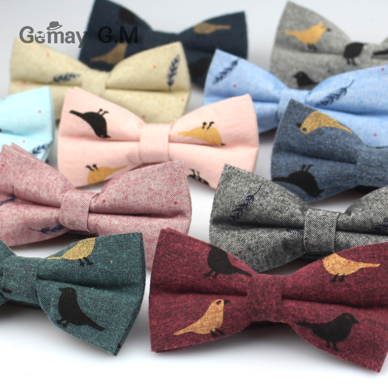 Fashion Suits Cotton Bowtie For Men Casual Print Bow Tie For Wedding Adult Neck Tie Gravatas Slim Masculina Cravats Neckwear