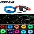 GEETANS Universal 5 M 10 Colores Car Styling Flexible Neon EL Cable de Luz de Tira Del Coche con el Regulador Auto Decoración Atmosph