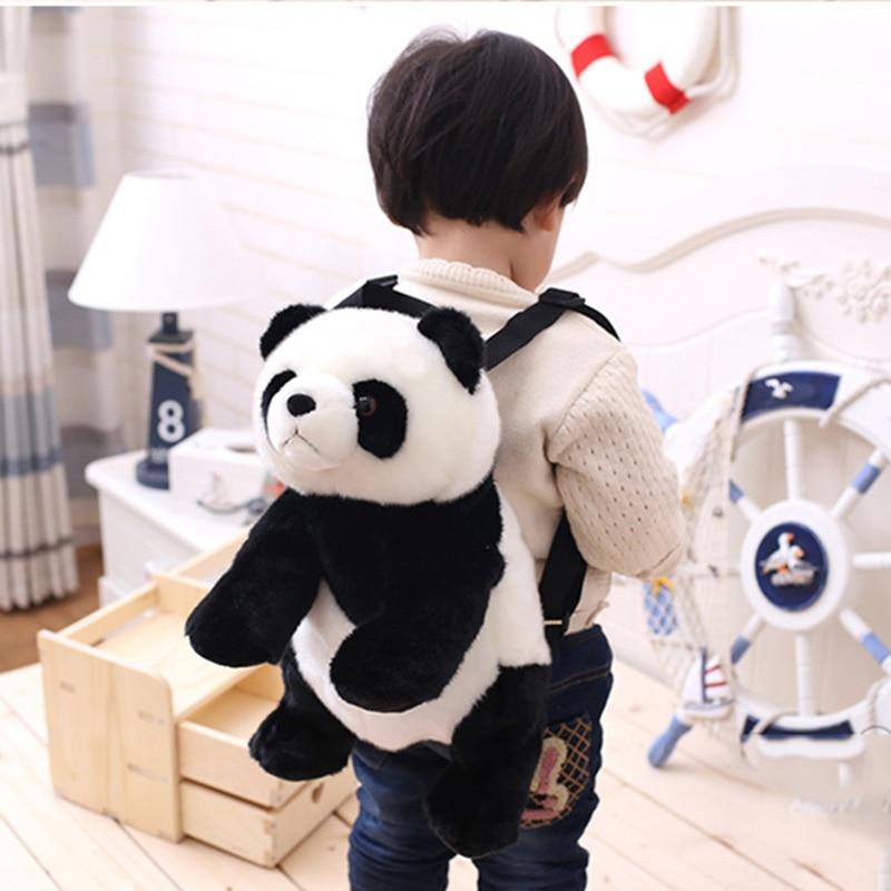 Baby Panda Backpack Panda Pencil Case Kids Girl Boy Panda Bear Animal Pencil Case Plush Backpack  Panda Gifts 7479