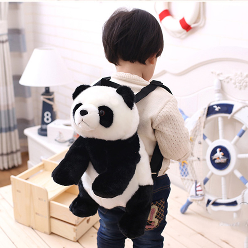 Baby Panda Backpack Panda Pencil Case Kids Girl Boy Panda Bear Animal Pencil Case Plush Backpack  Panda Gifts 7479