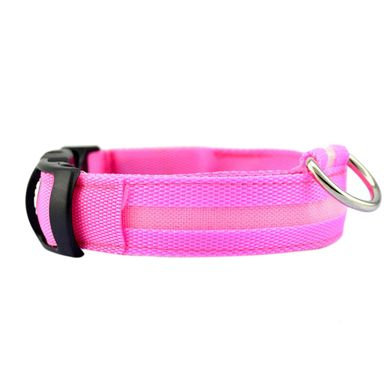 Fashion candy color LED Dog Collar Flashing In Dark Nylon 3 Mode Lighting Safety LED Pet Collar Wide Luminous Pet Products 10