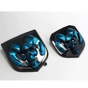 Image 5 - 3D Car Head Grill Tailgate 3D Stickers Metal Emblem Refitting Metal Chrome Badge Emblem Sticker Ram head   For Dodge Ram 1500 25