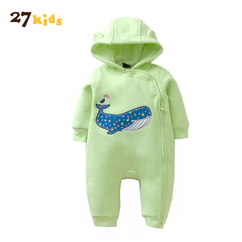 27Kids Newborn Baby Clothes Romper Kid Jumpsuit With Hooded Infant Outfit Clothing Long Sleeve Rompers Overalls Toddler Costumes newborn infant baby boy girl clothing cute hooded clothes romper long sleeve striped jumpsuit baby boys outfit