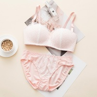 996d382f6 Girls Training Bra Teenage Girls Underwear Sets Lace Half Cup Floral Teen  Clothing Young Girls Bra