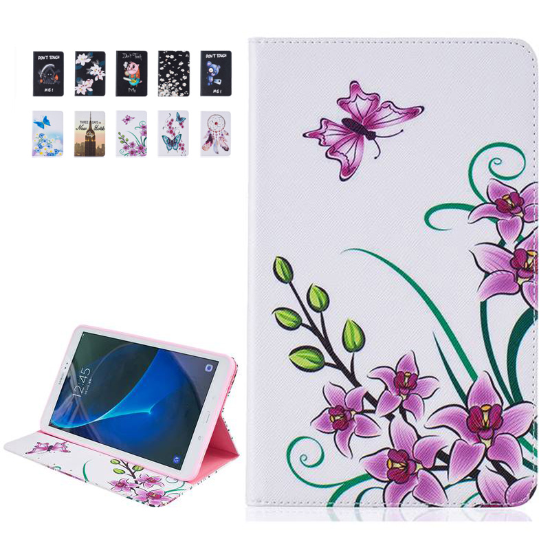 Fashion Painted Flip PU Leather for Samsung Galaxy Tab A 10.1 T580 Case for Samsung Galaxy Tab A 10.1 SM-T580 Smart Case Cover аксессуар чехол samsung galaxy tab a 7 sm t285 sm t280 it baggage мультистенд black itssgta74 1