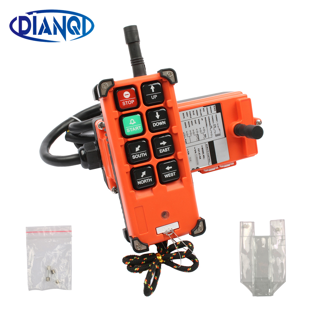 DIANQI Industrial remote control hoist crane push button switch with 8 buttons 1 receiver+ 1 transmitter for truck hoist crane industrial remote control hoist crane push button switch with 8 buttons 1 receiver 1 transmitter dc 12v no battary