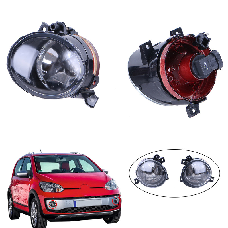 2x Front bumper Convex lens Fog light H11 plug Lights Bright Lamps For VW Jetta 5 Golf 5 GTI MK5 Car Styling // for opel astra h gtc 2005 15 h11 wiring harness sockets wire connector switch 2 fog lights drl front bumper 5d lens led lamp