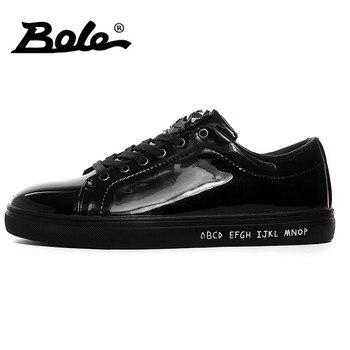2f1de257b6 BOLE New Design Sequin Men Casual Shoes Rubber Sole Men Non-slip Lace Up  Sneakers