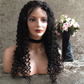 Плотность 130 Странный Курчавый Парик Бразильские Человеческие Волосы Афро Кудрявый Вьющиеся Короткий парик Glueless Фронта Шнурка Афро Кудрявый Вьющиеся Черный Парик Женщин