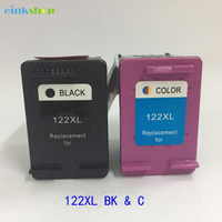 2Pcs Cartridge For HP 122 Ink Cartridge HP122 For HP Deskjet 1510 1050A 2050A 3050A 1000