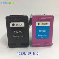 2Pcs Cartridge For HP 122 Ink Cartridge HP122 For HP Deskjet 1510 1050A 2050A 3050A 1000