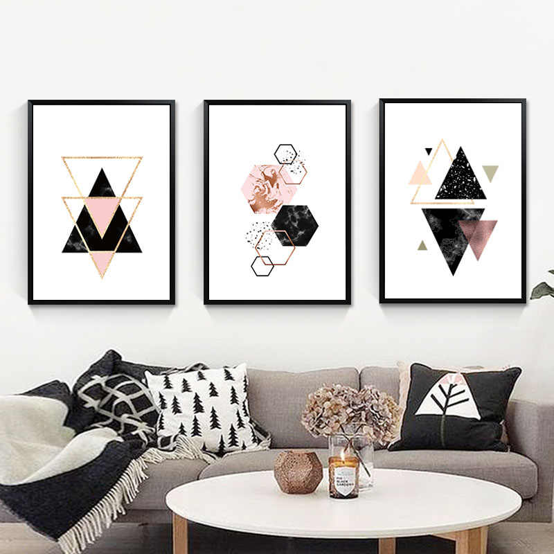 Minimalist Abstract Painting Geometric Poster Nordic Wall Art Canvas Painting Posters Wall Pictures For Living Room Unframed
