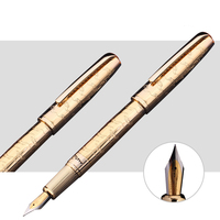 The Best Business Gifts Picasso Pimio 918 Luxury Gold Fountain Pen with 0.5mm Iridium Nib Metal Inking Pens Writing Stationery