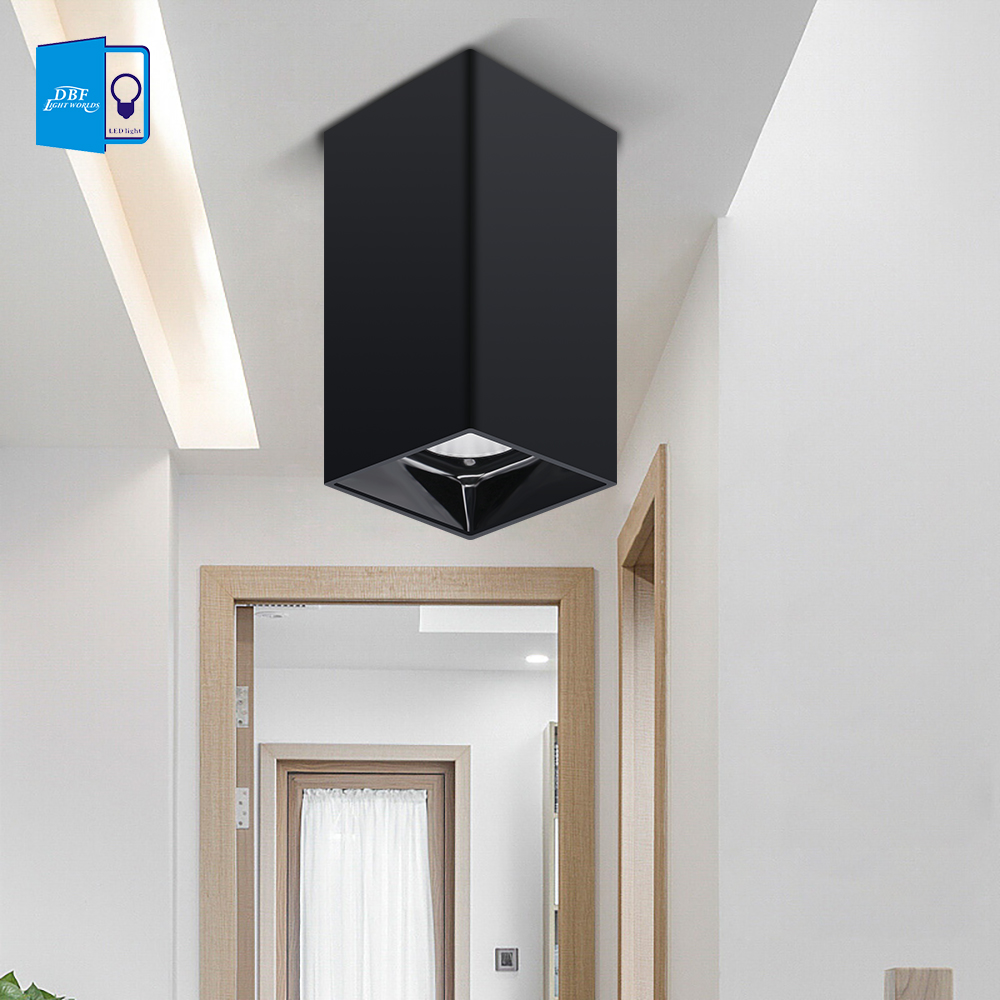 [DBF]Square White/Black Surface Mounted Downlight 15W 20W AC85-265V Shining Reflector Spot Light for Living Room Bedroom Hallway[DBF]Square White/Black Surface Mounted Downlight 15W 20W AC85-265V Shining Reflector Spot Light for Living Room Bedroom Hallway