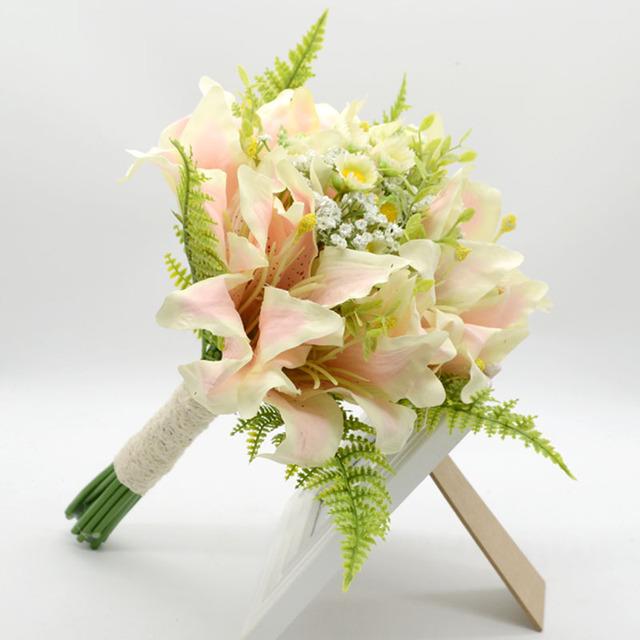 2017 Nuevo Llegado accesorios de Fotografía Con Flores Novia Casado Simulación Ramos De Flores Accesorios de La Boda