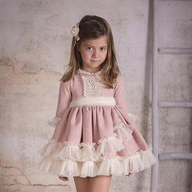 7544dfe103e3f 4340 Spanish Christmas Party Toddler Princess Baby Girl Dresses Autumn  Winter Kids Dresses For Girls Wholesale baby girl clothes