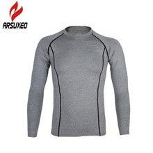 Спортивное нижнее белье для велоспорта, мужская рубашка с длинным рукавом для фитнеса, эластичная одежда для шоссейного велосипеда, колготки, быстросохнущая дышащая одежда