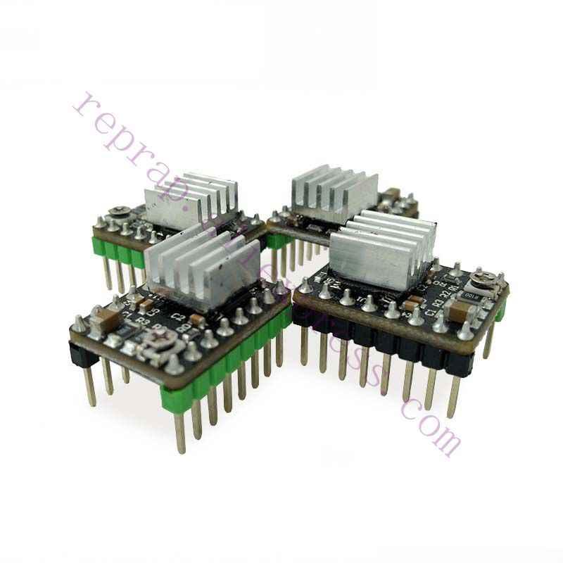 4pcs 3D printer improved MKS DRV8825 stepper motor driver module 4-layer  PCB + heatsinks for MKS controller, Ramps 1 4