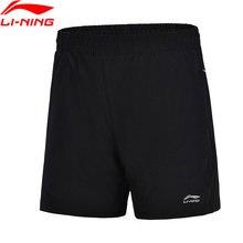 Li-Ning женские шорты для бадминтона, шорты для соревнований, дышащие, 91.1% полиэстер, 8.9% спандекс, подкладка, спортивные шорты AAPJ166 WKD608
