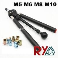Rivet Nut Guns M5 M6 M8 M10 Double Hand Manual Riveters Hand Blind Rivet Tool SSM8100
