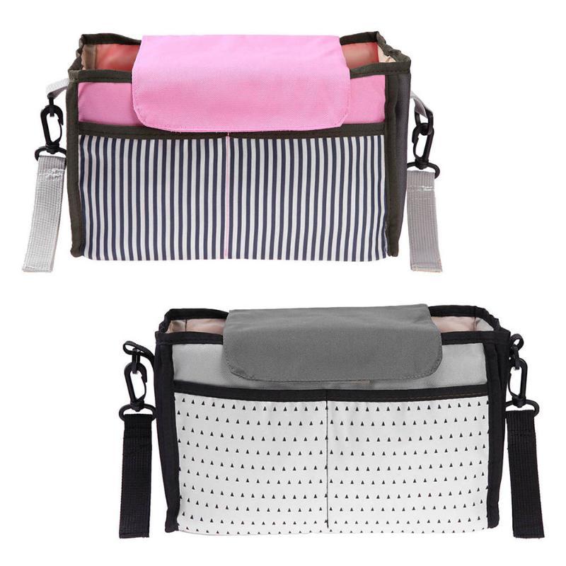 Portable Clothes Storage Bag Organizer Baby Stroller Accessories Carriage Bag Pushchair Wheelchair Milk Bottle Diaper Storage цена 2017