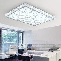現代のシンプルなledシーリングライト水キューブ長方形レストランのリビングルーム寝室牧歌ライトLU729320