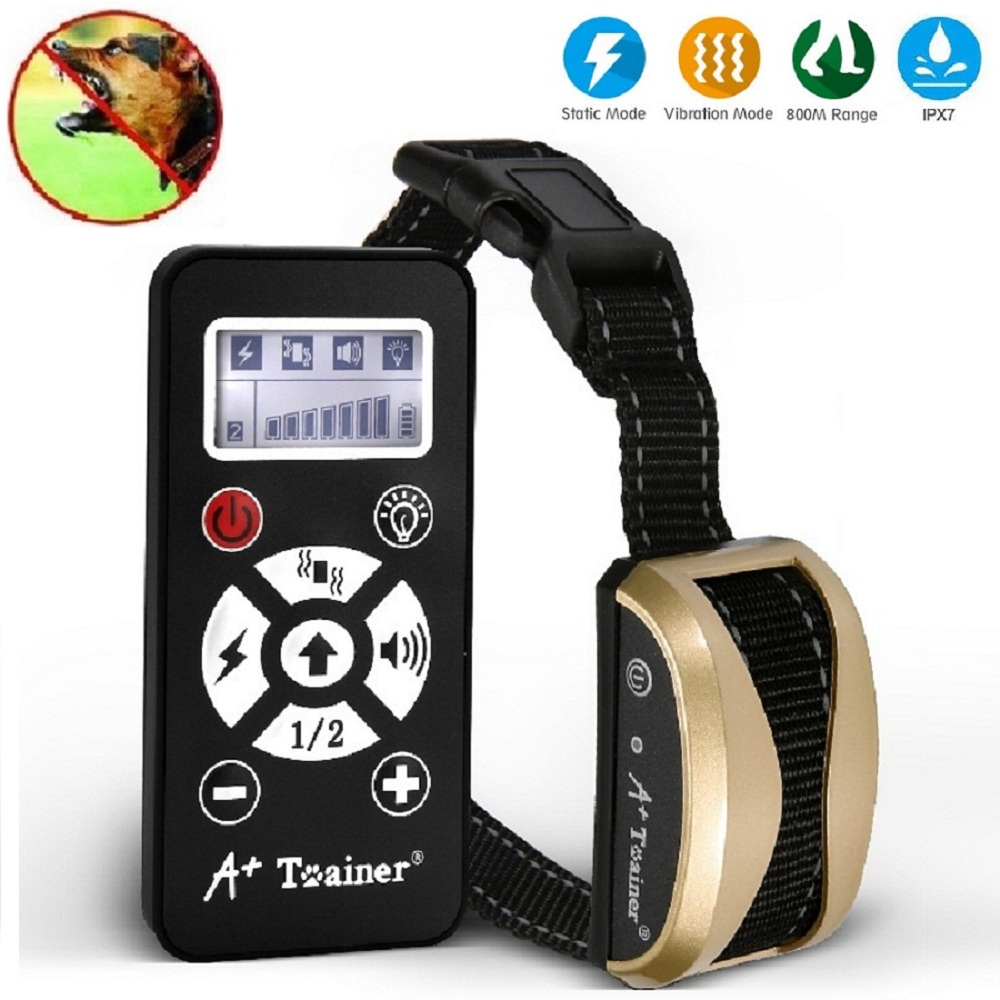 Pet Dog Training Collar Rechargeable Waterproof 800 Yards Range Remote with Vibration and Shock Electronic Collar