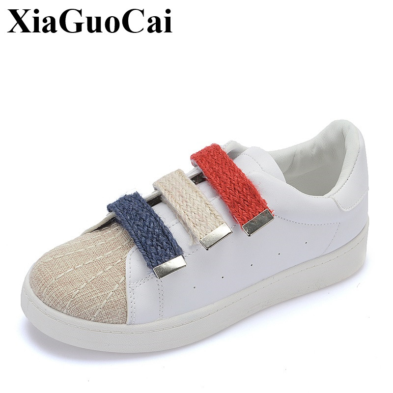 Spring&summer Women Shoes New Fashion Shell Toe White Flats Shoes Hook&Loop Causal Shoes All-match Single Shoes H353 35 2016 spring and summer free shipping red new fashion design shoes african women print rt 3