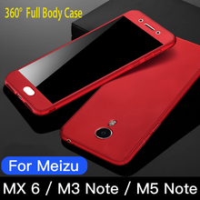 360 Ultra thin Capa Coque Mobile Phone Case+Tempered Glass For Meizu MX6 M3 Note M5 Note 5 Full Body Cover Protective цена и фото