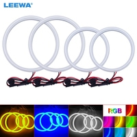 LEEWA 2X106mm 2X126mm Car Auto Halo Rings Cotton Lights SMD LED Angel Eyes for Toyota Corolla 01 04 Car Styling White/Blue #3143