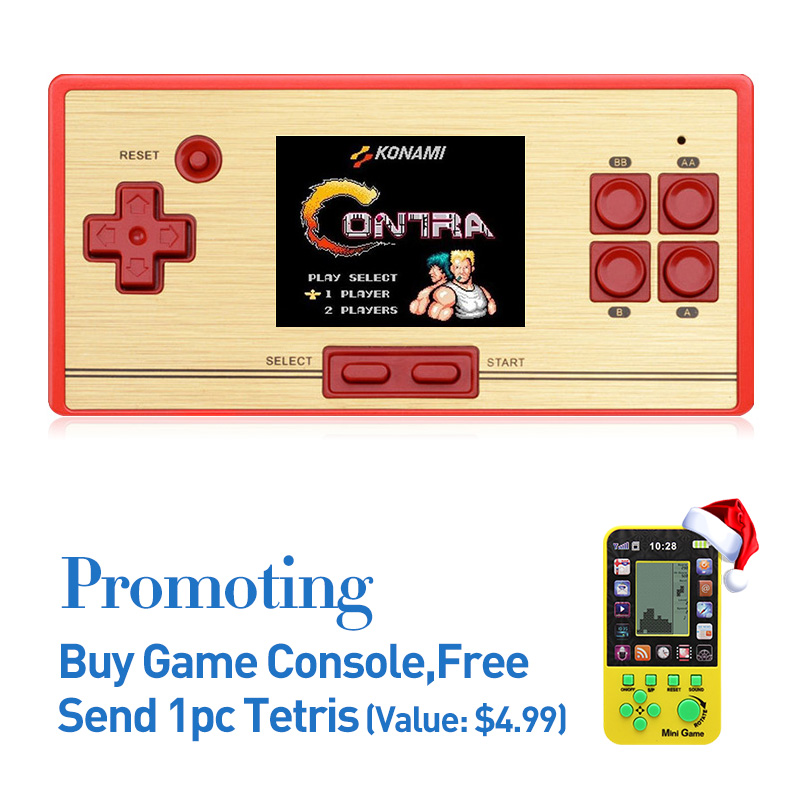ФОТО  Free Shipping hot sale 2.6 Inch Retro Handheld Game Console Portable video Game Console Classic Free 600 games NES gift for kid