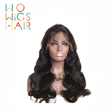WoWigs Hair Full Lace Wigs Body Wave Remy Hair Natural Color 100% Human Hair Free Shipping
