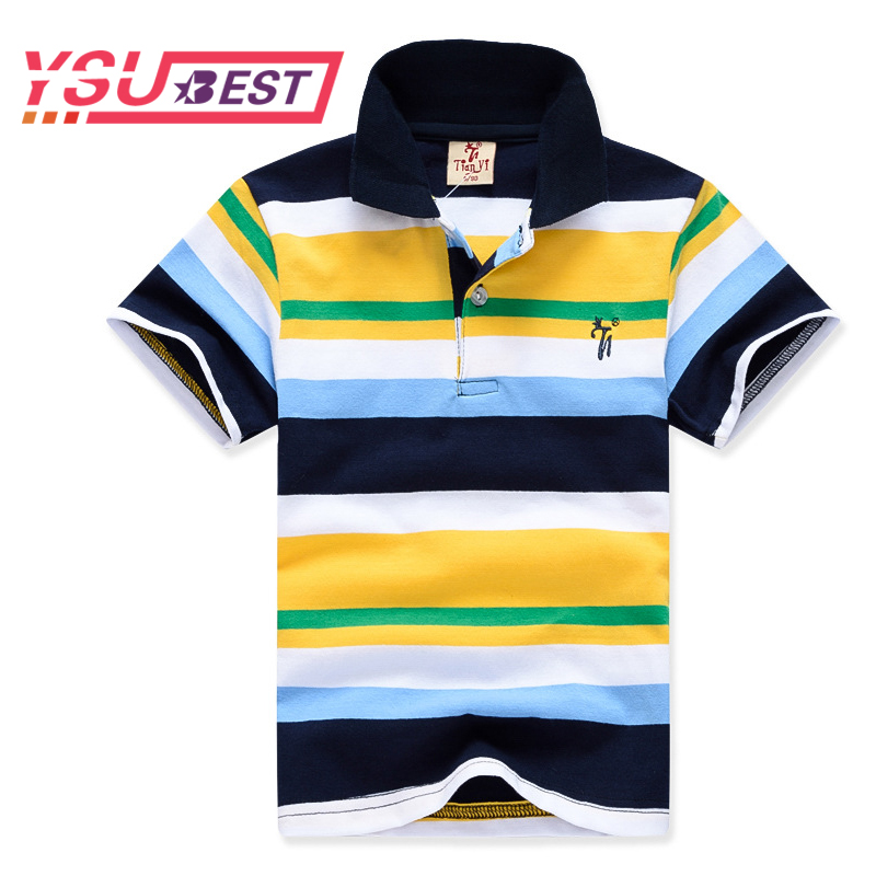 все цены на Boys Shirt Cotton Boys Polo Shirt Short Sleeve 2018 Summer New Arrival Boys Clothes Kids Polo Children Clothing Boys Polos Brand