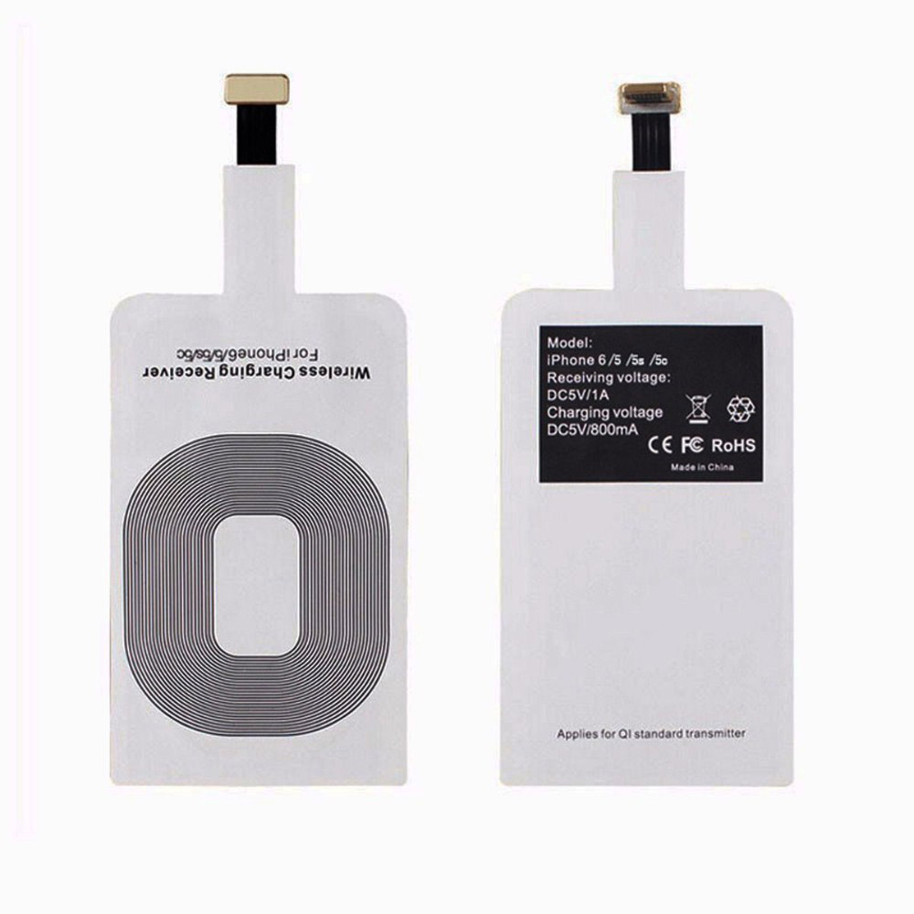 Universal <font><b>Qi</b></font> Wireless Charger Transmitter Patch Receiver Adapter Pad for Samsung <font><b>iPhone</b></font> <font><b>6</b></font> 6s 5 5s Xiaomi Huawei meizu nokia HTC image