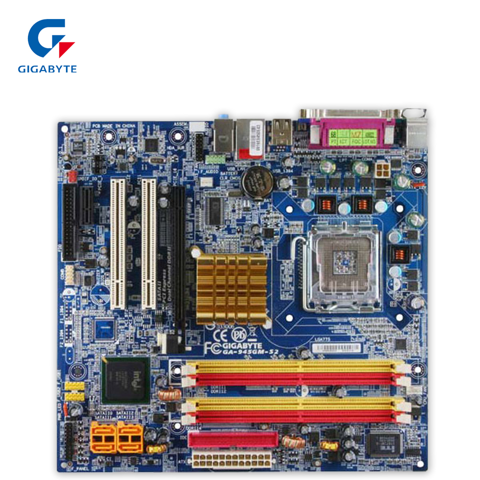 Original Gigabyte GA-945GM-S2 Desktop Motherboard 945GM-S2 945G LGA 775 DDR2 Micro ATX 100% Fully Test original for ga ma78lm s2 desktop motherboard 940pin am2 am3 ddr2 100% tested