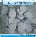 Free shipping 100pcs RFID coin card access control card/TK4100 125KHZ diameter 25mm keychain card /waterproof