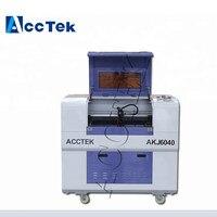 jinan ACCTEK mini 6040 laser machine for with Taiwan Hiwin square rails