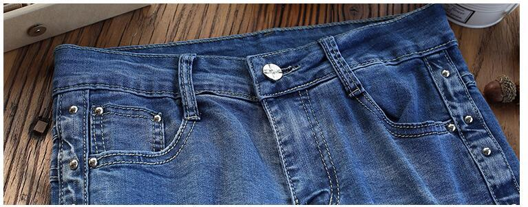 #6614 Wide leg jeans women Loose Fashion Big size high waist jeans Straight Spring 18 Formal jeans mujer Bell bottom jeans 5