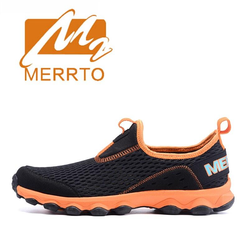 ФОТО 2017 Merrto Men Walking Shoes Outdoor Slip On Shoes Lightweight Mesh For Men Free Shipping MT18602