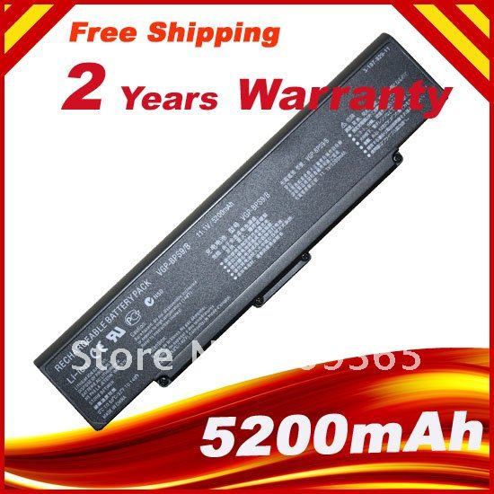 Laptop Battery for Sony Vaio PCG VGN-AR VGN-CR VGN-NR VGN-SZ Series, PN: VGP-BPS9 VGP-BPS9A/B VGP-BPL9 (Black) new notebook laptop keyboard for sony vgn bz vgn bz11xn series sp layout