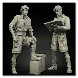 1/35 resina figura modelo kits britânico (2 figuras) sem pintura 552