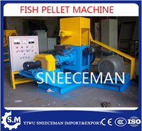 180 200kg/h tilapia farming equipment floating and sinking fish feed pellet machine high quality fish food extruder