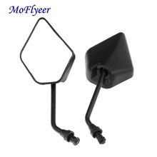 MoFlyeer Motorcycle Universal Black Mirror Rear View Side Mirrors For Honda Kawasaki Suzuki KTM