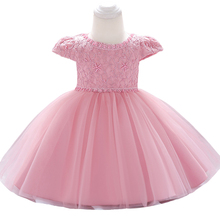 New Baby Girl Clothes Dresses For Girls Floral Princess Christmas Dress Infant Wedding First Birthday Girl Party Dress 1 2 Years