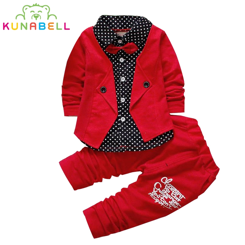 Baby boys clothes set Spring infant clothing suit 2Pcs sets kids baby wedding suits gentleman toddler boy clothes birthday dress