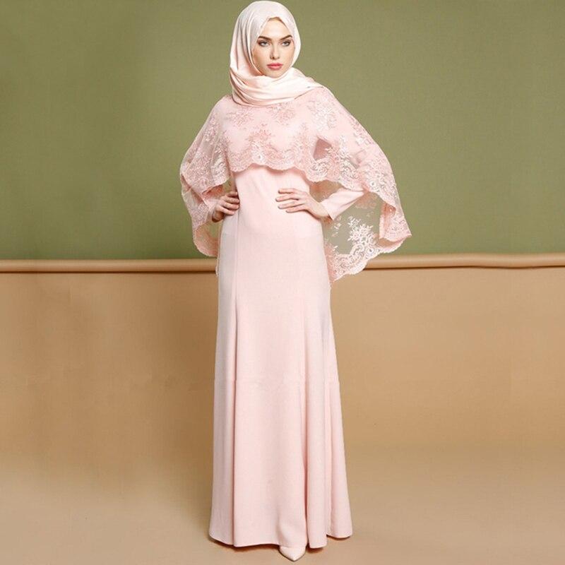 Mode broderie Robe Abayas pour les femmes Abaya dubaï caftan Robe Robe musulmane Abaya Jilbab Robe turque islamique vêtements DQS221