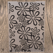Flowers Plastic Embossing Folders for Card Making Scrapbooking Wedding Paper Cards Photo Album Decor