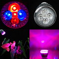 Cheap wholesale 10pcs/lot 10w LED GROW LIGHT E27 3red 2Blue LED Growing Lamps plants flowering & hydroponics system lights