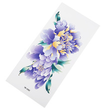 Purple Flowers Tattoo Stickers Waterproof Wicking Durable Ladies Charming Flower Arm Chest Party Banquet Sticker
